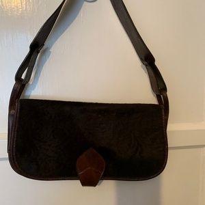 KENZO Brown Leather/Fur bag